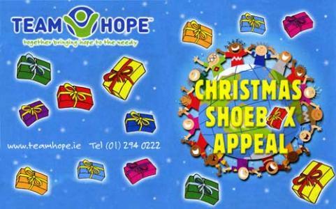 Christmas Shoebox Appeal.Christmas Shoebox Appeal Holmpatrick National School